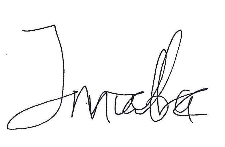 Mubarak's signature